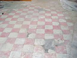 Asbestos floor tile removal